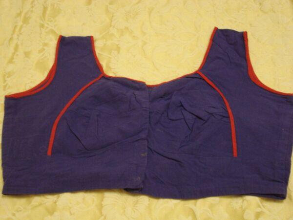 Considerado Mujeres/niñas De Sari Blusa Púrpura-tamaño 12-ver Estilismo Actualizado