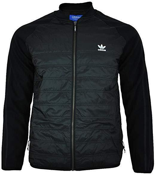 Adidas Originals Mens Superstar SST Quilted Jacket Black Full Zip Size Small