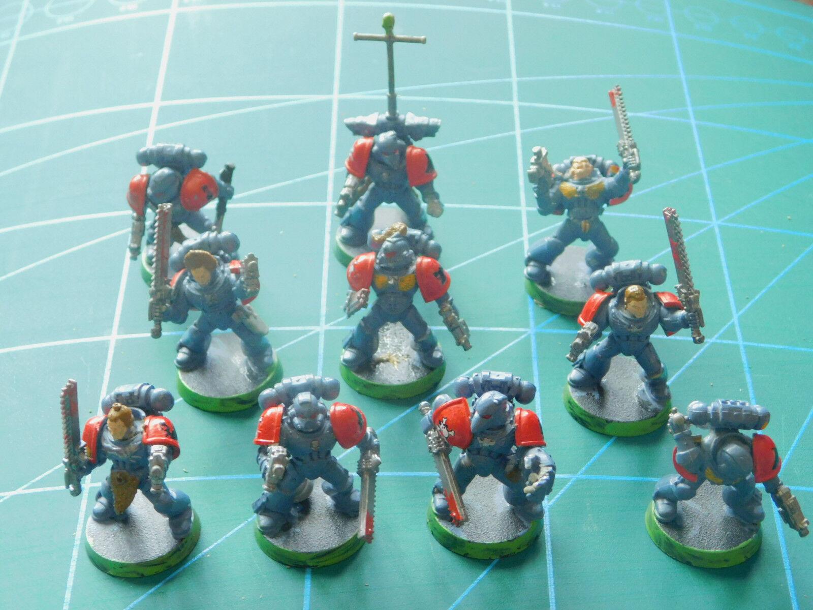 despacho de tienda 10 Warhammer 40k mazmorras Dragones espacio espacio espacio Marina pintado figuras de plástico  se descuenta