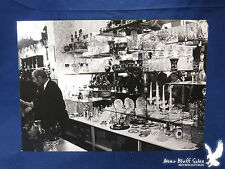 Vintage Photo Silver Glass Clocks Crystal Cased Bohemian Glass Show Room Store