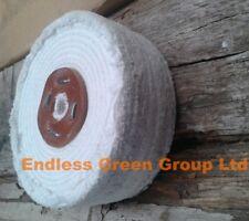 "4"" Stitched Cotton Buffing Wheel - 100mm x 50mm   Polishing Mop  C100/4"