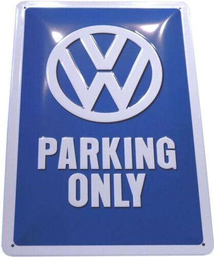 VW Parking Only Volkswagen Blechschild geprägt 20x30 Schild 737