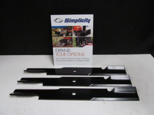 OEM Genuine Simplicity Set of 3 Lawnmower Blades READ THE LISTING 5101755BMYP