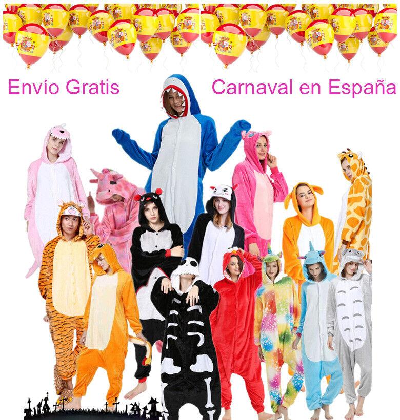 Animal Unisex onesiee Disfraz de Kigurumi Con Capucha Pijama Ropa Para Dormir 3