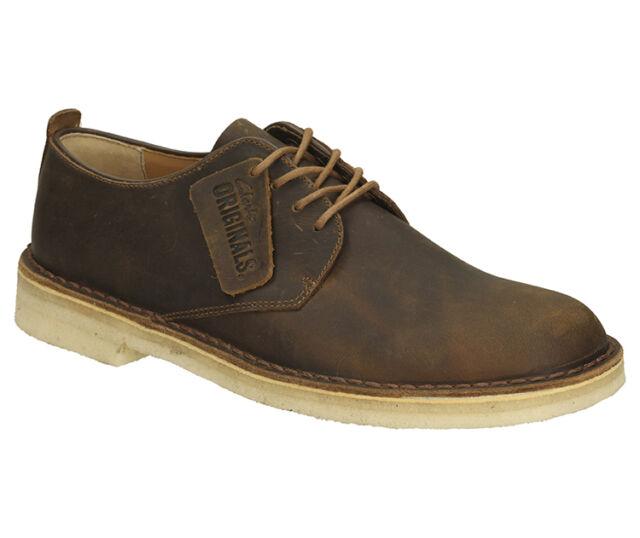 Clarks Originals da uomo DESERTO London cera d'api con lacci scarpa in pelle