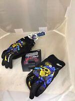 Joe Rocket Mens Extra Large Artime Joe Motorcycle Gloves Blue Destroyer Of Soul