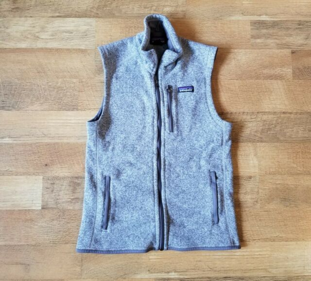 PATAGONIA unisex size small EXCELLENT CONDITION fleece lined grey full zip vest