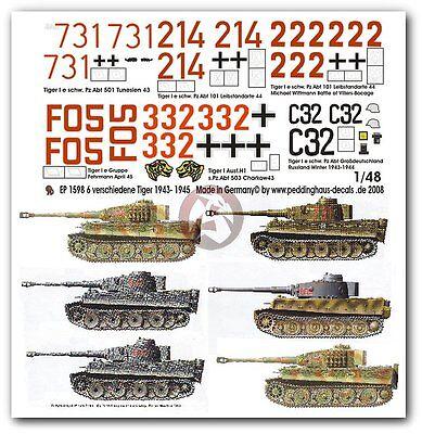 1//144 WWII German Tiger Ferdinand Tank PANZER Markings Model Water Slide Decal