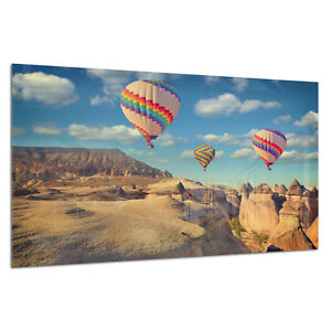 Verre Trempé Impression Photo Wall Art Photo Baloons Canyon Turquie Prizma Gwa0347-afficher Le Titre D'origine Riche En Splendeur PoéTique Et Picturale