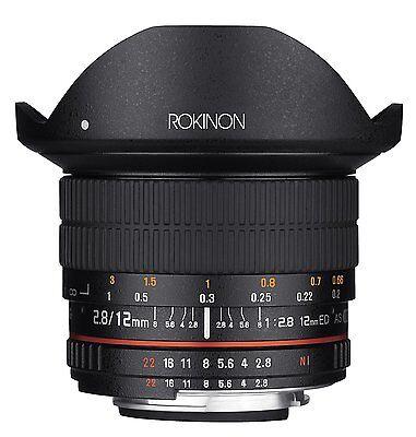 Rokinon 12mm F2.8 Ultra Wide Fisheye Full Frame Lens for Pentax DSLR Cameras