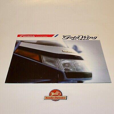 Honda Gl1500 Oro Laterale Originale Sales Brochure. Hsb502 Luminoso E Traslucido Nell'Apparenza