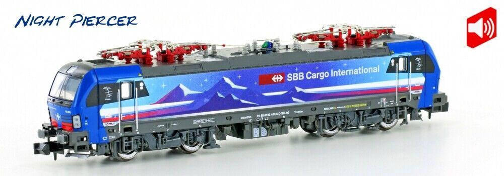 Hobbytrain h2999s E-Lok br193 Vectron SBB Cargo  Night piercer  Digital Sound