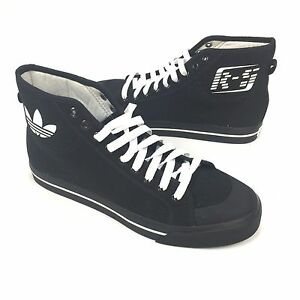 48fc6d45bbbd04 NWT  350 RAF SIMONS Adidas Men s Matrix Spirit High Top Black ...