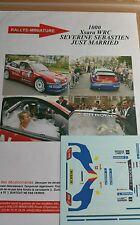 Decals 1/24 réf 1000b Citroën Xsara Wrc Loeb JUSTE MARRIED