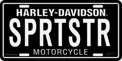 Harley Davidson Sportster Embossed Metal Vanity Car License Plate Auto Tag