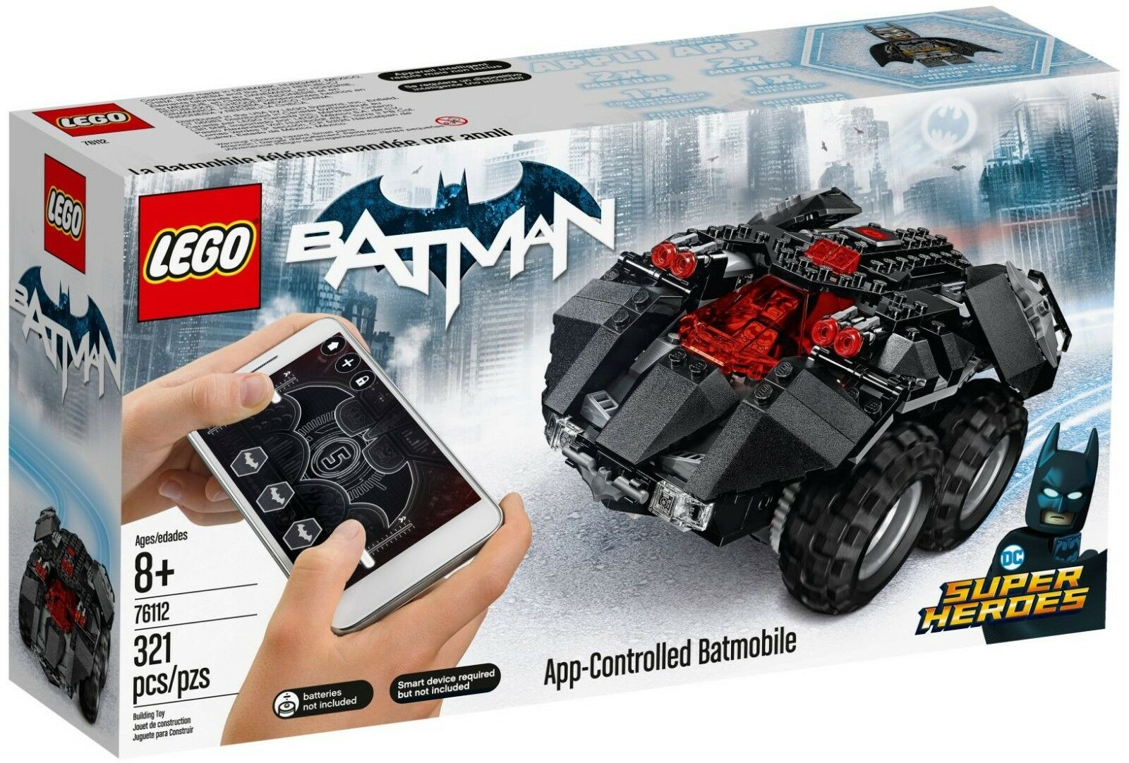 LEGO 76112 App-Contolled Batmobile BATMAN Super Heroes 8+ Pz 321