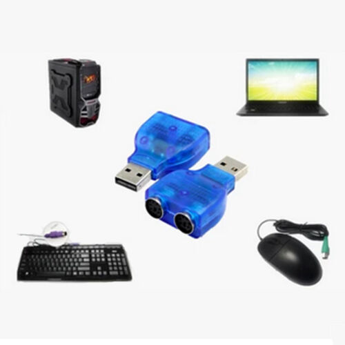 USB Male to PS2 Female Converter Adapter Splitte For Keyboard Mouse PS//2