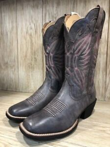 0b5fe9cef0c Details about Ariat Women's Round Up Outfitter Tack Room Grey Cowgirl Boots  10023161 SALE!!