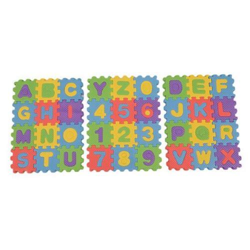 Puzzle Kids Baby Toy Alphabet A-Z Letters Numeral Soft Foam Puzzle Mat JD