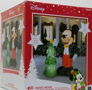 CHRISTMAS-7-5-039-H-AIRBLOWN-INFLATABLE-DISNEY-MICKEY-MOUSE-TREE-YARD-DECOR