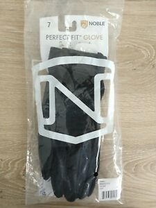 NEW Noble Equestrian Perfect Fit Cool Mesh Glove Light Weight in Black Size 6
