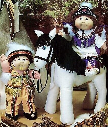 "Sew  Cabbage Patch Kids  Pony /& Western Wear  For Soft Sculpture 16/"" Dolls"