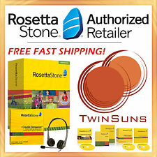 NEW! Rosetta Stone® ENGLISH U.S. AMERICAN LEVEL 1 HOMESCHOOL +HEADSET +AUDIO CD!