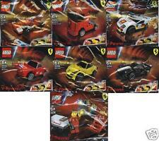 7x LEGO FERRARI SHELL V-Power Sets komplett 30190 bis 30196