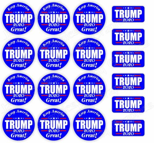 18-pack TRUMP 2020 2inch Stickers Decals Vote USA Election America President