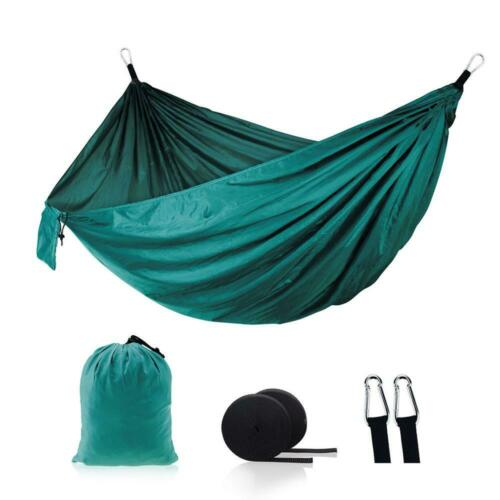 """Camping Hammock Outdoor Garden Portable Double Hanging Bed Swing Chair 106/""""x55/"""""""