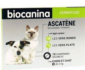 BIOCANINA-Ascatene-vermifuge-pour-chien-et-chat-2kg-boite-de-10-comprimes