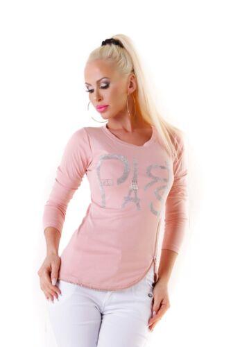4780 FEIN da Donna Pullover Lavorato A Maglia Pullover A Maglia Manica Lunga Girocollo glitter Parigi