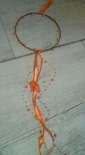 Fensterdeko orange Ostern Metallring innen