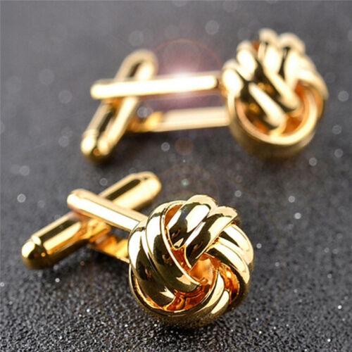 1Pair Men/'s Suits Shirt Knot Twisted Cufflinks Wedding Business Cuff links Gi Gh