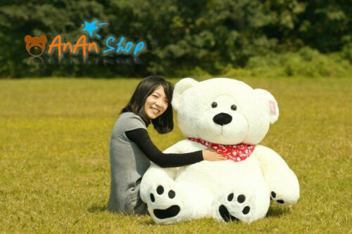 New Giant White 63/'/' Huge Plush Teddy Bear Big Stuffed Animal Doll Soft Toy Gift
