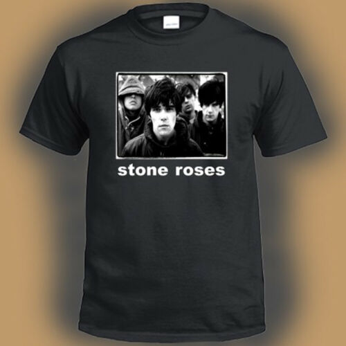 The Stone Roses English Rock Band Legend Logo Men/'s Black T-Shirt Size S-3XL