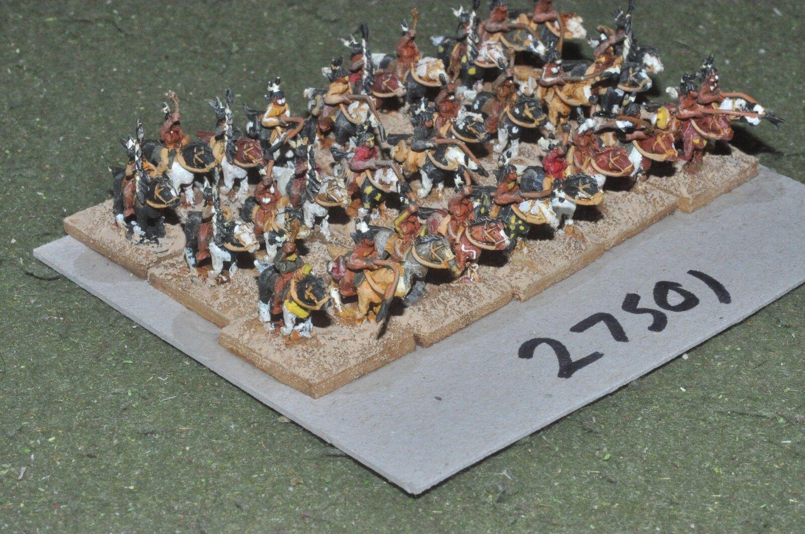 10mm ACW   indian - warriors 30 figures - cav (27501)