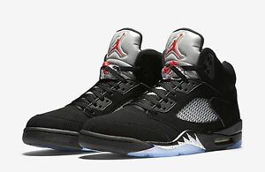Retro Air Jordan V All Black Silver