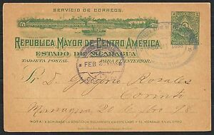 Nicaragua covers 1898 Decorative PC Managua to Corinto