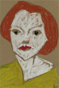 Ben Carrivick - Contemporary Pastel, Red Hair and Yellow Shirt