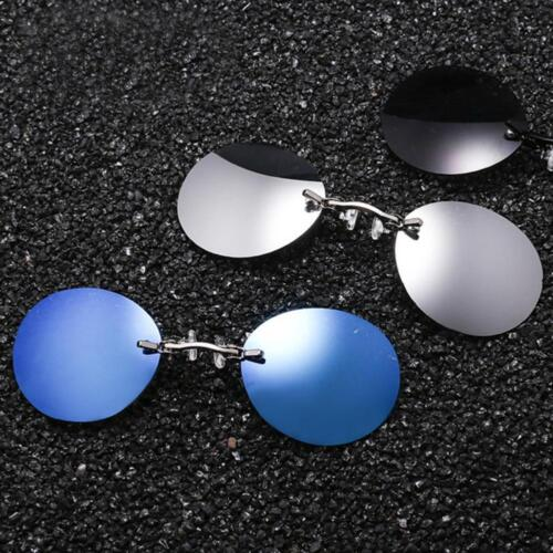 Pretty Clip Nose Style Sunglasses Men Rounds Glasses Vintage Sun Eyeglasses CN
