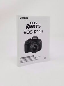 Details about Canon Rebel T5 EOS 1200D Instruction Owners Manual Book NEW
