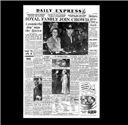 Miniatura Dollshouse QUOTIDIANO-quotidiano express1947 matrimonio della principessa Elisabetta