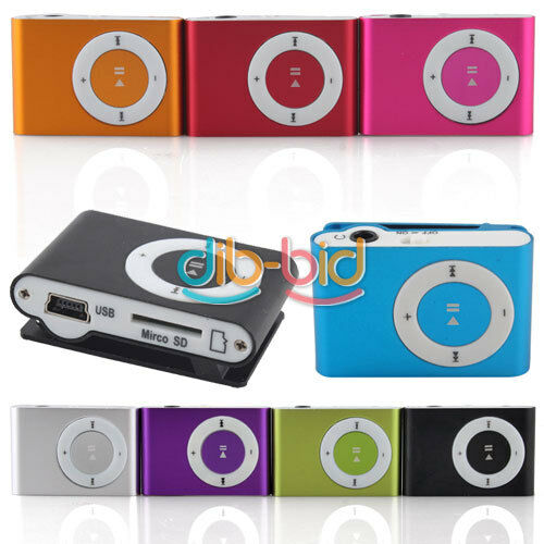 Colorful Fashoin Clip Metal USB MP3 Music Media Player Support 8GB Micro SD TF