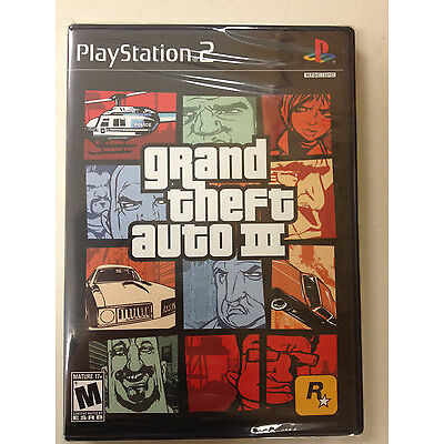 Grand Theft Auto III 3 for PlayStation 2 Brand New! Factory Sealed!