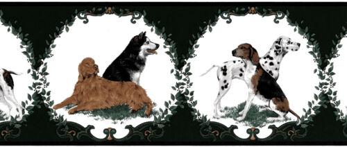 Dog Leaves Vines Dalmatian Retriever Hound Dog Hunting Wallpaper Wall Border