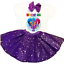 Details about  /SHIMMER /& SHINE 2ND SECOND Birthday PURPLE Tutu Outfit Girl Headbow