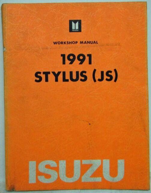 1991 Isuzu Stylus Service Shop Repair Manual