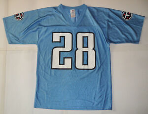 4f907d263 TENNESSEE TITANS CHRIS JOHNSON  28 NFL TEAM APPAREL FOOTBALL JERSEY ...
