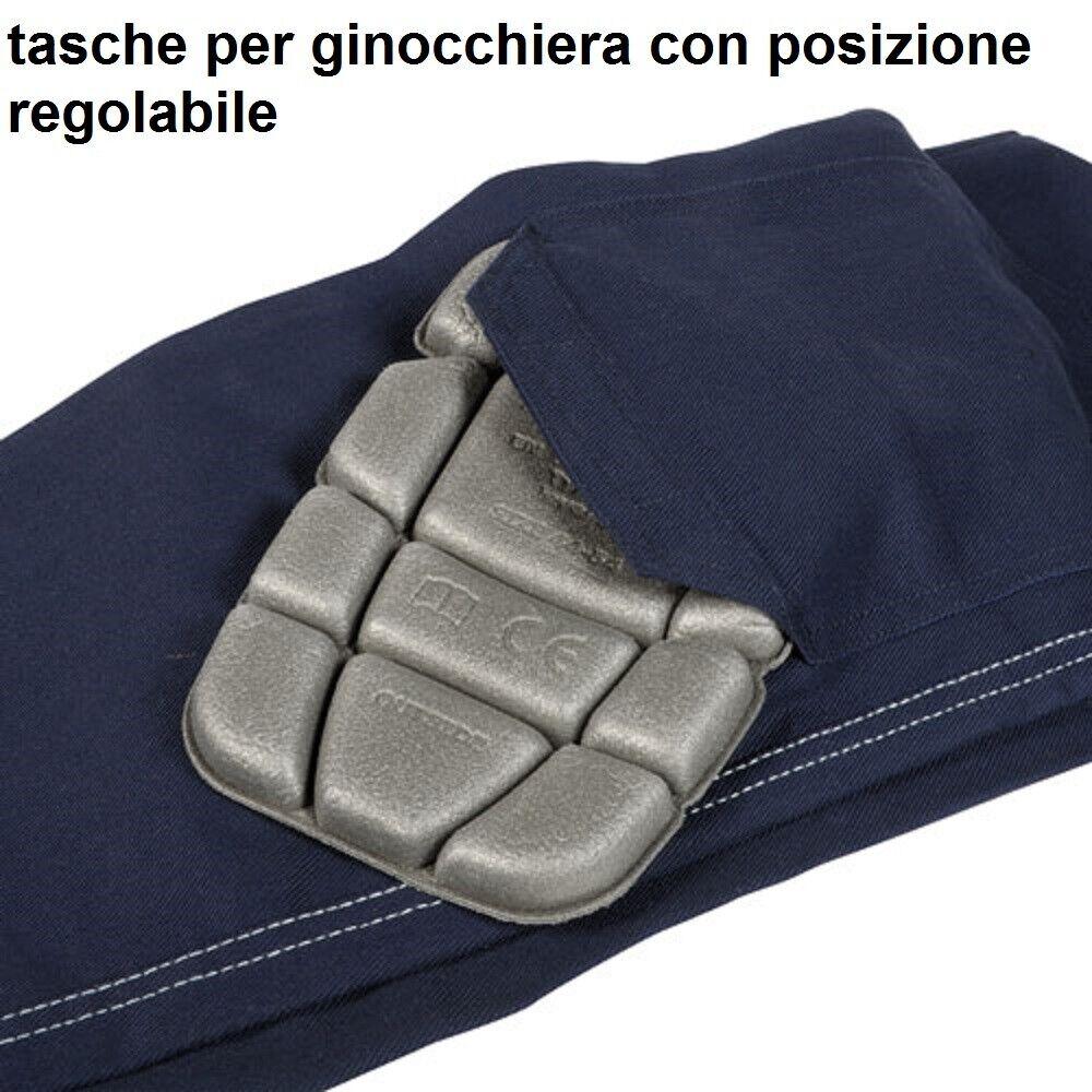 Immagine 4 - Pantaloni da lavoro COFRA modello ZIMBABWE 100% cotone 270 g/m² con ginocchiere